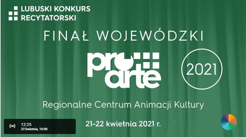 Finał Wojewódzkiego Lubuskiego Konkursu Recytatorskiego 2021