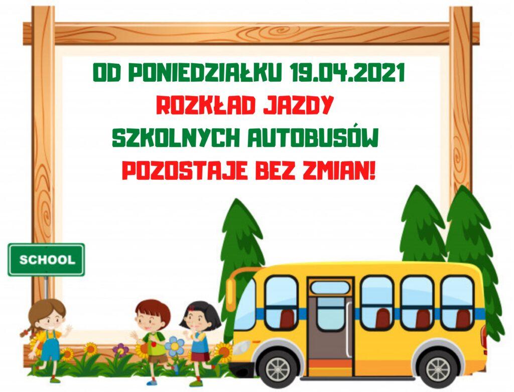 Rozkład jazdy szkolnych autobusów