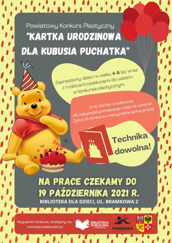 """""""Kartka urodzinowa dla Kubusia Puchatka"""" – Powiatowy konkurs plastyczny"""